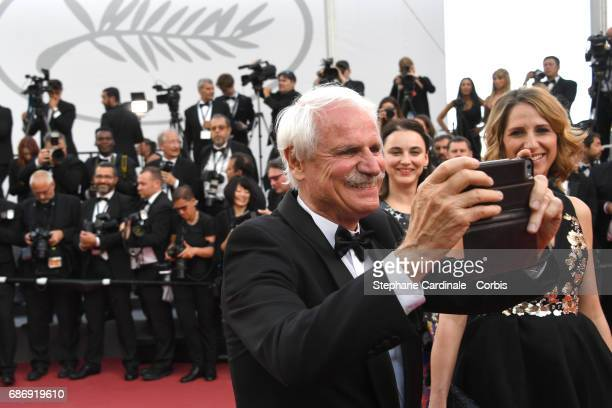 Yann ArthusBertrand attends 'The Killing Of A Sacred Deer' premiere during the 70th annual Cannes Film Festival at Palais des Festivals on May 22...