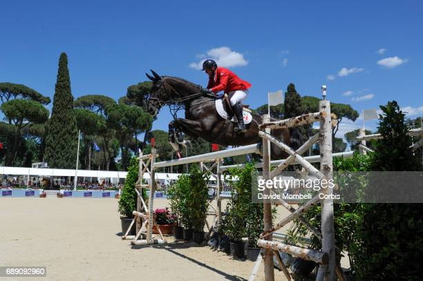 Yann Candele of Canada riding Avalon 280 during the FEI Nations Cup Piazza di Siena on May 26 2017 in Villa Borghese Rome Italy