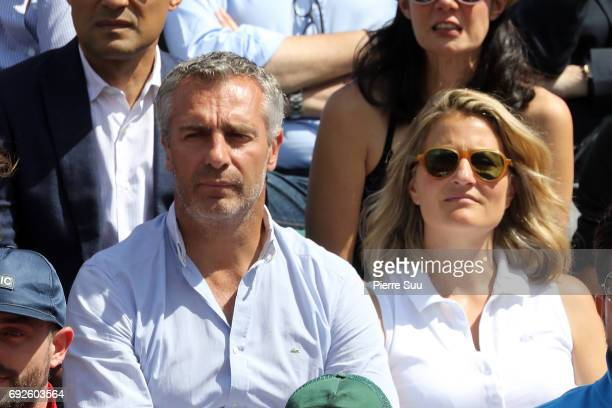 Yann Delaigue and Astrid Bard are spotted at Roland Garros on June 5 2017 in Paris France