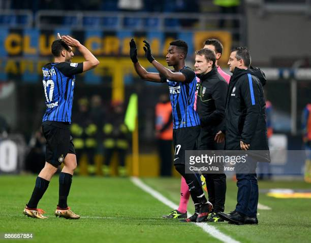 Yann Karamoh of FC Internazionale during the Serie A match between FC Internazionale and AC Chievo Verona at Stadio Giuseppe Meazza on December 3...