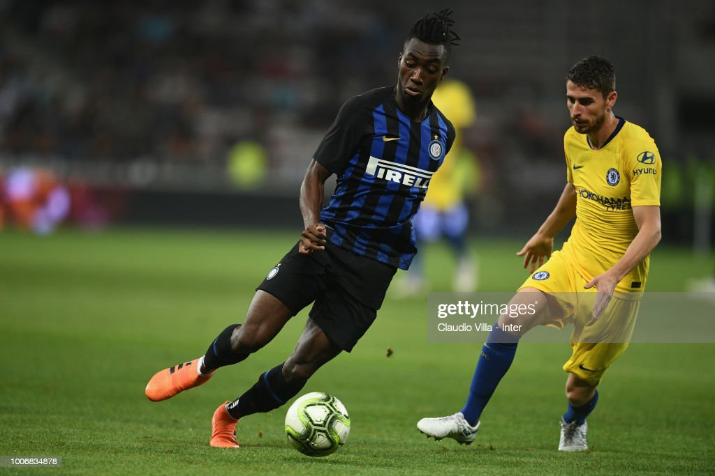 Yann Karamoh of FC Internazionale in action during the International Champions Cup 2018 match between Chelsea and FC Internazionale played at Allianz Riviera Stadium on July 28, 2018 in Nice, France.