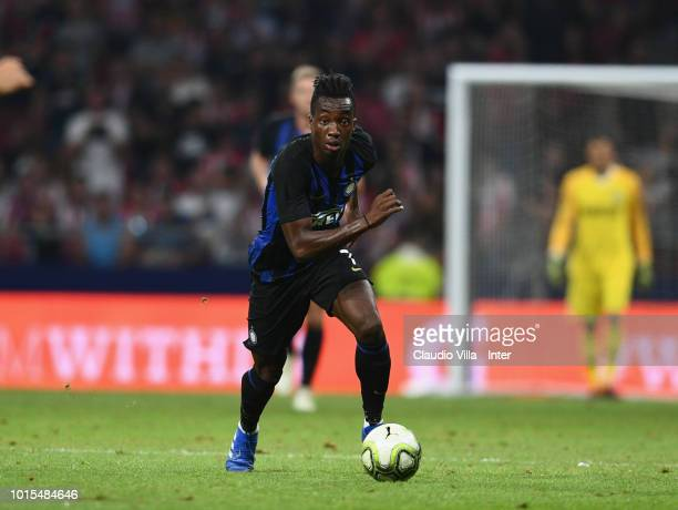 Yann Karamoh of FC Internazionale in action during the International Champions Cup 2018 match between Atletico Madrid and FC Internazionale at...
