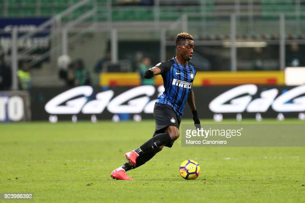 Yann Karamoh of FC Internazionale in action during the Serie A match between FC Internazionale and Benevento Calcio Fc Internazionale wins 20 over...