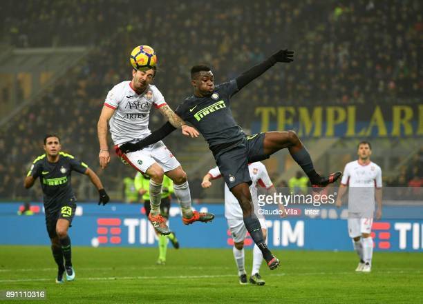 Yann Karamoh of FC Internazionale in action during the TIM Cup match between FC Internazionale and Pordenone at Stadio Giuseppe Meazza on December 12...