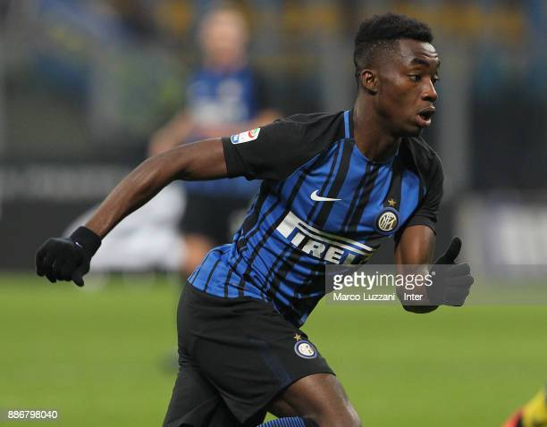 Yann Karamoh of FC Internazionale looks on during the Serie A match between FC Internazionale and AC Chievo Verona at Stadio Giuseppe Meazza on...