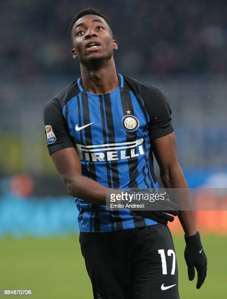 Yann Karamoh of FC Internazionale Milano looks on during the Serie A match between FC Internazionale and AC Chievo Verona at Stadio Giuseppe Meazza...