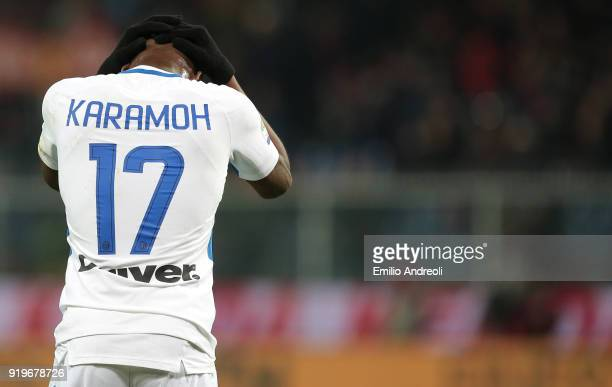 Yann Karamoh of FC Internazionale Milano shows his dejection during the serie A match between Genoa CFC and FC Internazionale at Stadio Luigi...