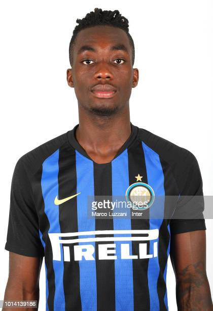 Yann Karamoh of FC Internazionale poses with the club shirt during the FC Internazionale training session at the club's training ground Suning...