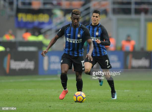 Yann Karamoh of Inter player an dJoao Cancelo of Inter player during the match valid for Italian Football Championships Serie A 20172018 between FC...