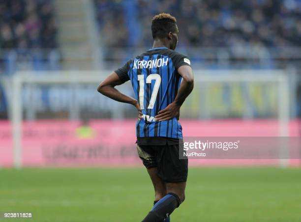 Yann Karamoh of Inter player during the match valid for Italian Football Championships Serie A 20172018 between FC Inter and FC Bologna at San Siro...