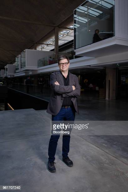 Yann Lecun head of Artificial Intelligence research at Facebook Inc poses for a photograph during Bloomberg's Sooner Than You Think technology...