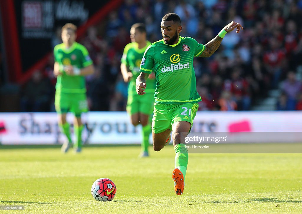 Yann M'Vila of Sunderland during the Barclays Premier League match between Bournemouth and Sunderland at the Vitality Stadium on September 19, 2015 in Bournemouth, England.