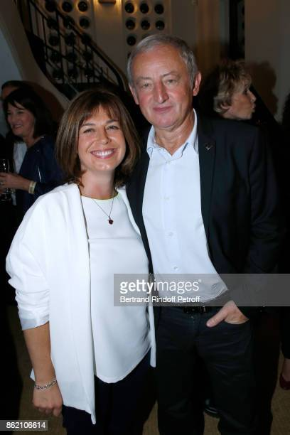 Yann Queffelec and his wife Servane Queffelec attend the One Woman Show by Christelle Chollet for the Inauguration of the Theatre de la Tour Eiffel...