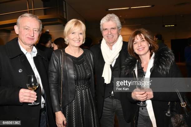 Yann Queffelec Catherine Ceylac Claude Serillon and Servane Queffelec attend the Mobile Film Festival 2017 award ceremony at MK2 Bibliotheque on...