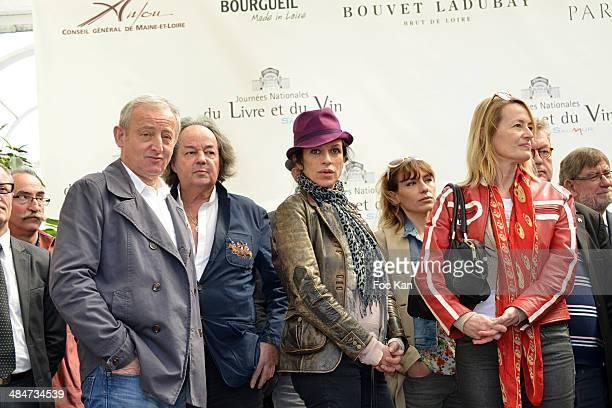 Yann Queffelec, Gonzague Saint Bris, Jovanka Sopalovic, Julie Debazac and Gabrielle Lazure attend the 'Journees Nationales du Livre et du Vin 2014'...