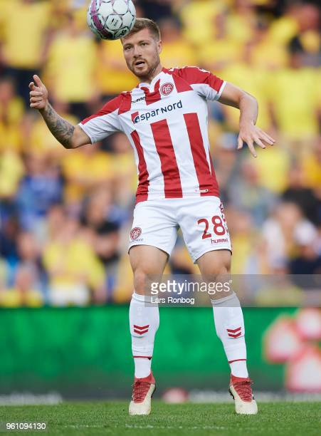 Yann Rolim of AaB Aalborg in action during the Danish Alka Superliga match between Brondby IF and AaB Aalborg at Brondby Stadion on May 21 2018 in...