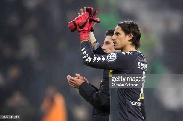 Yann Sommer and Lars Stindl of Borussia Moenchengladbach look dissapointed after the DFBCup match between Borussia Moenchengladbach and Bayer 04...