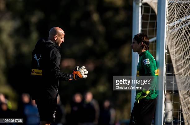 Yann Sommer and Steffen Krebs during a training session at Borussia Moenchengladbach Training Camp on January 10, 2019 in Jerez, Spain.