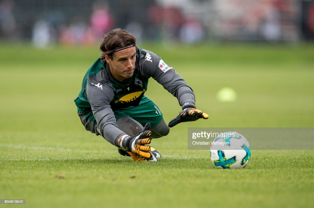 Yann Sommer during the training session of Borussia Moenchengladbach at Borussia-Park on August 18, 2017 in Moenchengladbach, Germany.