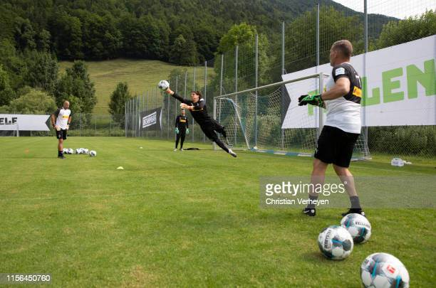 Yann Sommer in action during a training session at the Borussia Moenchengladbach Training Camp on July 19 2019 in RottachEgern Germany