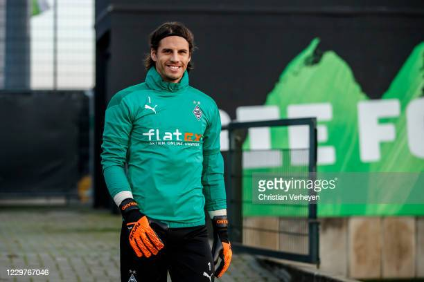 Yann Sommer is seen during a Borussia Moenchengladbach Training session ahead the Group B UEFA Champions League match between Borussia...