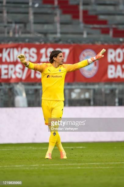 Yann Sommer of Borussia Moenchengladbach during the Bundesliga match between FC Bayern Muenchen and Borussia Moenchengladbach at Allianz Arena on...