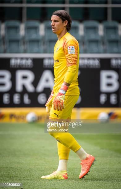 Yann Sommer of Borussia Moenchengladbach during the Bundesliga match between Borussia Moenchengladbach and Hertha BSC at Borussia Park on June 27...
