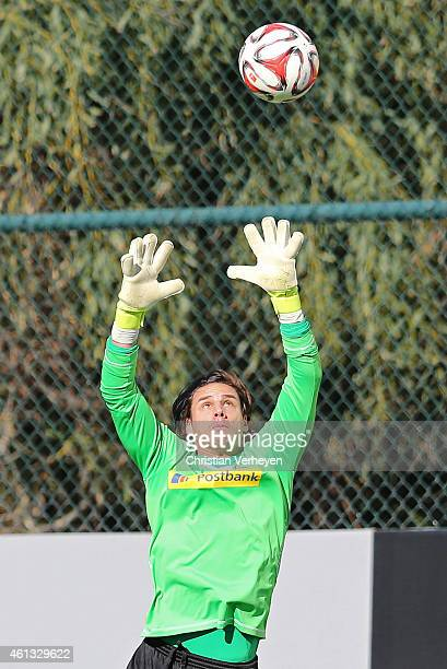 Yann Sommer of Borussia Moenchengladbach in action during a training session on day four of Borussia Moenchengladbach training camp on January 11...