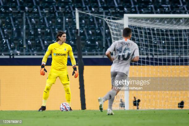 Yann Sommer of Borussia Moenchengladbach in action during the Group B UEFA Champions League match between Borussia Moenchengladbach and Shakhtar...