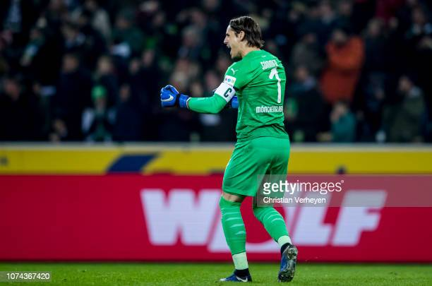 Yann Sommer of Borussia Moenchengladbach in action during the Bundesliga match between Borussia Moenchengladbach and 1FC Nuernberg at BorussiaPark on...
