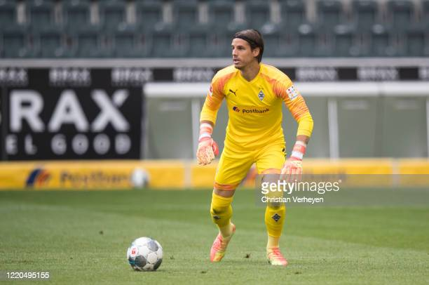 Yann Sommer of Borussia Moenchengladbach in action during the Bundesliga match between Borussia Moenchengladbach and VfL Wolfsburg at BorussiaPark on...