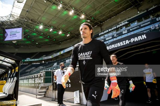 MOENCHENGLADBACH GERMANY JUNE Yann Sommer of Borussia Moenchengladbach is seen ahead the Bundesliga match between Borussia Moenchengladbach and...