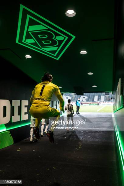 Yann Sommer of Borussia Moenchengladbach is seen before the Bundesliga match between Borussia Moenchengladbach and SV Werder Bremen at Borussia-Park...
