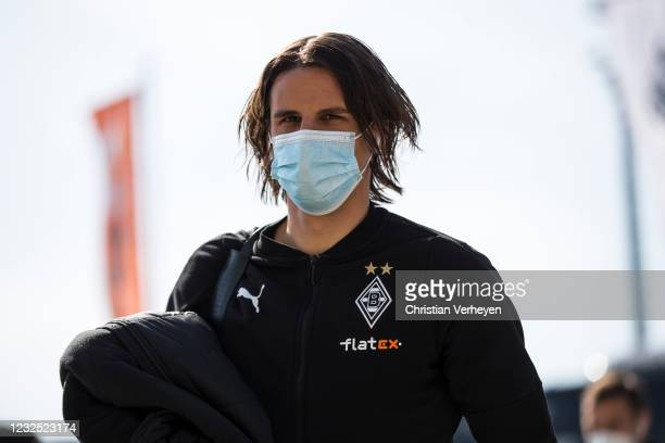 Yann Sommer of Borussia Moenchengladbach is seen before the Bundesliga match between Borussia Moenchengladbach and DSC Arminia Bielefeld at...