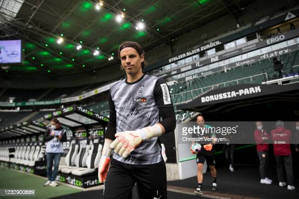 Yann Sommer of Borussia Moenchengladbach is seen before the Bundesliga match between Borussia Moenchengladbach and VfB Stuttgart at Borussia-Park on...