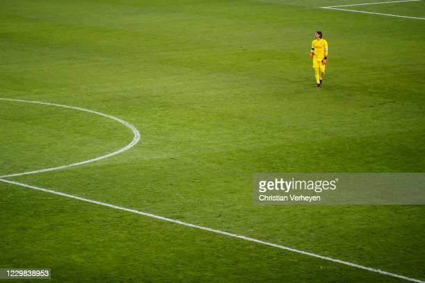 Yann Sommer of Borussia Moenchengladbach is seen during the Bundesliga match between Borussia Moenchengladbach and FC Schalke 04 at BorussiaPark on...