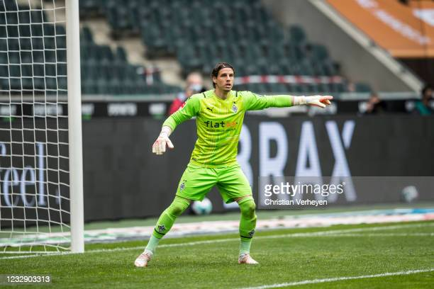 Yann Sommer of Borussia Moenchengladbach is seen during the Bundesliga match between Borussia Moenchengladbach and VfB Stuttgart at Borussia-Park on...
