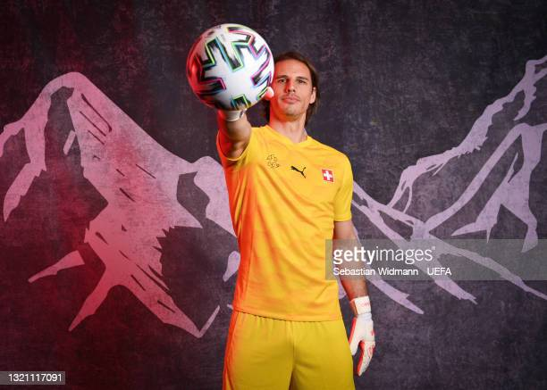 Yann Sommer of Switzerland poses during the official UEFA Euro 2020 media access day on May 29, 2021 in Bad Ragaz, Switzerland.