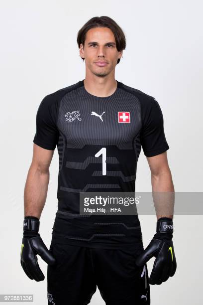 Yann Sommer of Switzerland poses for a portrait during the official FIFA World Cup 2018 portrait session at the Lada Resort on June 12 2018 in Samara...