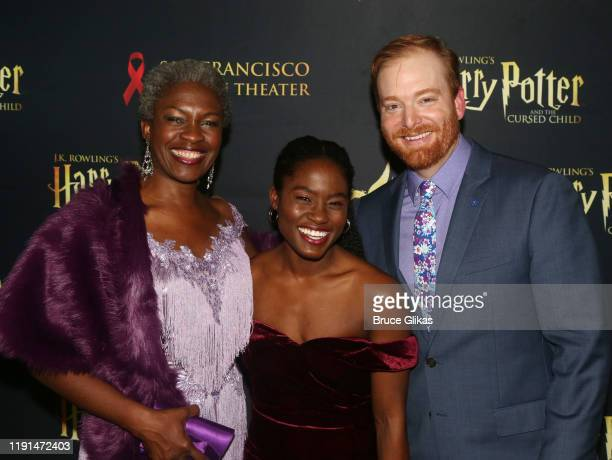 Yanna McIntosh Folami Williams and David Abeles pose at the opening night after party for Harry Potter and The Cursed Child Parts One 2 at August...