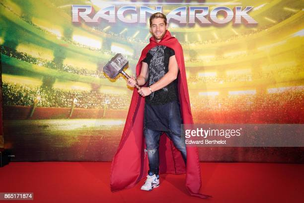 YannAlrick Mortreuil from Danse avec Les Stars is seen during Thor Ragnarok Paris Premiere at Le Grand Rex on October 22 2017 in Paris France