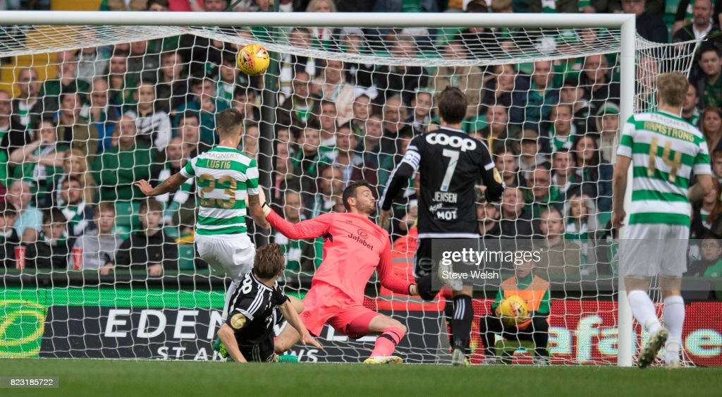 Yann-Erik e Lanlay of Rosenborg misses a chance during the UEFA Champions League Qualifying Third Round,First Leg match between Celtic and Rosenborg at Celtic Park Stadium on July 26, 2017 in Glasgow, Scotland.