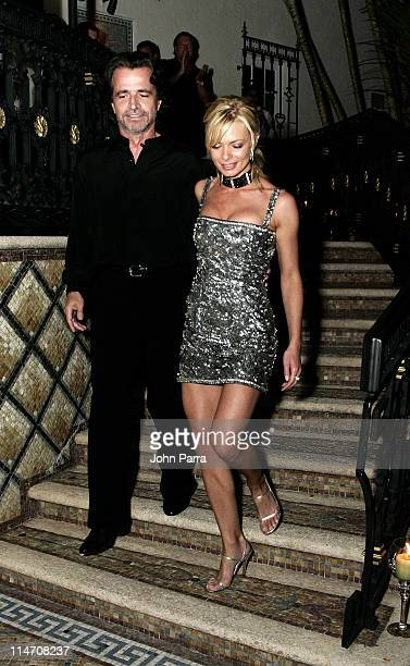 Yanni and Jaime Pressly during Spa Eleven Launch Party at Casa Casaurina at Casa Casaurina in Miami Beach Florida United States