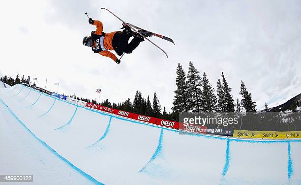 Yannic Lerjen of Switzerland competes in the qualifying round of the FIS Freestyle Ski World Cup 2015 men's ski halfpipe heat 1 during the USSA Grand...