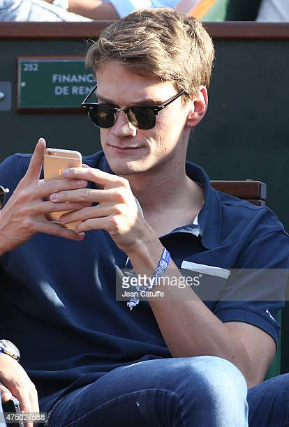 Yannick Agnel attends day 4 of the French Open 2015 at Roland Garros stadium on May 27 2015 in Paris France