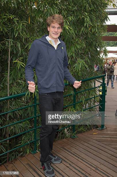 Yannick Agnel sighting at the french open 2013 at Roland Garros on June 9 2013 in Paris France