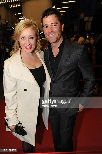 Yannick Bisson actor from Murdoch Mysteries and wife Chantal Craig writer and producer on the red carpet at the War Horse opening night at the...