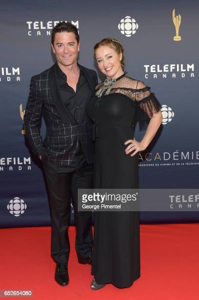 Yannick Bisson and Chantal Craig attend 2017 Canadian Screen Awards at Sony Centre For Performing Arts on March 12 2017 in Toronto Canada