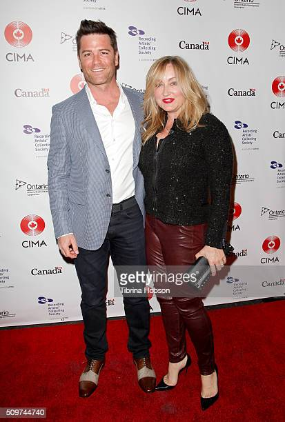 Yannick Bisson and Chantal Craig attend Canada's Grammy Night at Raleigh Studios on February 11 2016 in Los Angeles California
