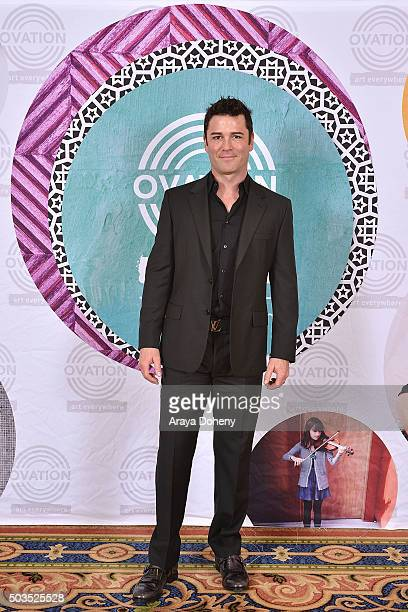 Yannick Bisson attends the Ovation 2016 Winter TCA Tour introducing three series featuring Rachel Hunter Reza Aslan Norman Lear And Yannick Bisson at...